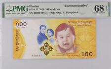 Bhutan 100 Ngultrum 2016 Baby P 37 Superb Gem UNC PMG 68 EPQ Top Pop NR