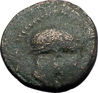MESEMBRIA in THRACE 400BC Corinthian HELMET WHEEL Ancient Greek Coin i60577