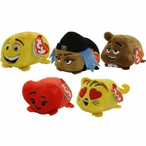 TY Beanies Teeny Tys - Plush Soft Toys -  Emoji Movie Teeny TY Set of 5