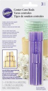 Wilton 3 Pcs Plastic Center Column Rods Cake Construction Baking Decorating Tool