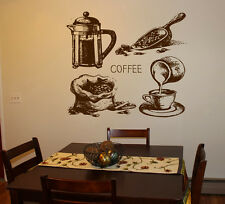 Wall Decal Sticker bedroom coffee break beans kitchen art table breakfast bo2739
