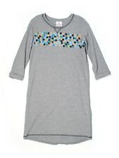 Girl Hanna Andersson Starry Gray High Low Cotton Dress Size 160 14 16
