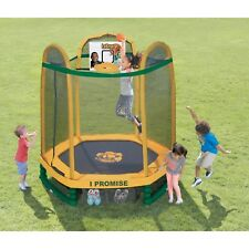 Little Tikes 7-Foot LeBron James Family Foundation Dream Big Trampoline, with Sa