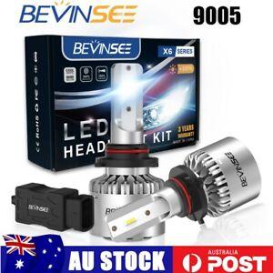 2x 9005 HB3 LED Headlight Globes High Beam 6000K For Toyota Land Cruiser 100 200