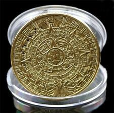 Mayan Aztec Calendar Coin Souvenir Prophecy Souvenir Token Art Collection Gift