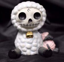 Furry Bones White Woolee Lamb  Skeleton Animal Figurine Free S&H