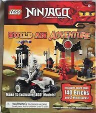 LEGO NINJAGO BUILD AN ADVENTURE 15 MODELS 2 MINIFIGURES BOOK 140 Bricks New