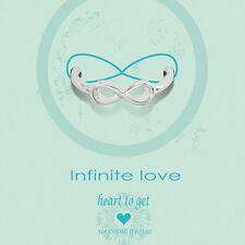 """Novità Heart to get-ARGENTO-Anello """"INFINITE LOVE"""" - Tg. 52"""