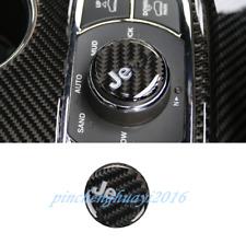 Carbon Fiber Center Console Knob Cover Trim For Jeep Grand Cherokee 2014-2019