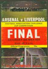 Programme UK Soccer Challenge Cup 1971 Arsenal vs Liverpool w Images FINAL
