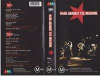 RAGE AGAINST THE MACHINE  VHS PAL VIDEO~ A RARE FIND