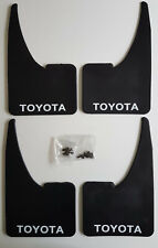 NEW TOYOTA Mudflaps + Fittings FULL SET OF 4 Universal Fit
