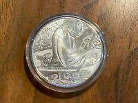 "Guatemala 2002  1 Quetzal Silver Proof - ""Canoe Fisher"" Ibero-American Series V"