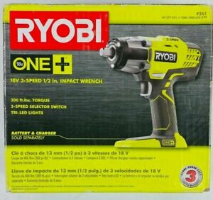 "Ryobi P261 ONE+ HP 1/2"" Impact Wrench 3 Speed 18V 1 Day Free Shipping"