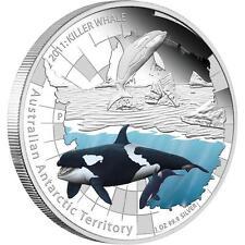 2011 Australian Antarctic Territory Killer Whale 1oz Silver Proof Coin