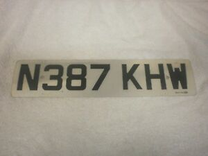GREAT BRITAIN ENGLAND BRISTOL FRONT 1995 # N387 KHW LICENSE PLATE