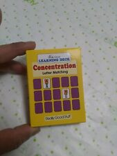 Really good stuff- learning deck- concentration letter matching (New)