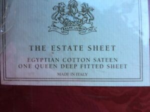 Ralph Lauren DIGNITARY RED Queen Fitted Egyptian cotton made in Italy
