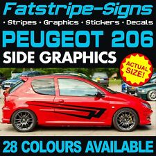 PEUGEOT 206 GRAPHICS STRIPES DECALS STICKERS GTI PUG 1.0 1.4 1.6 2.0 CC GTI RC D