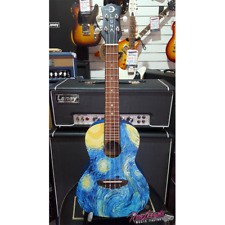 Luna Starry Night Concert Ukulele with Gig Bag and Fitted Aquila Strings