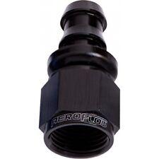 Aeroflow AN -6 Straight Full Flow Push Lock Swivel Hose End Fitting - Black