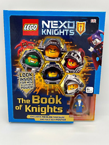 Lego Nexo Knights Hardcover Book Of Knights New Merlock Figure and Rare Poster!