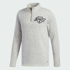 NEW adidas NHL Los Angeles Kings 1/4 zip Sweatshirt Sz MEDIUM MED M $90 GREY NWT
