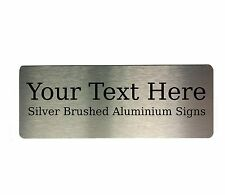 Custom Personalised Your Text Metal Aluminium Sign Door Plaque House Office Name