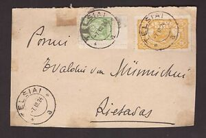 1924 Lithuania front of cover sent from Telšiai to Rietavas