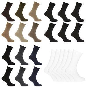 Men's Diabetic Socks, Non Elasticated Soft Top Cotton Socks, Fit to UK Size 6-11