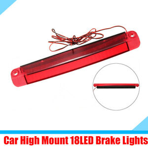 5W Car High Mounted Tail Third  Brake Lights Stop Lamp Red 18 LED Plastic Shell
