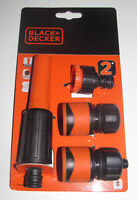 KIT JET + RACCORDS EMBOUTS POUR TUYAUX D'ARROSAGE BLACK+DECKER