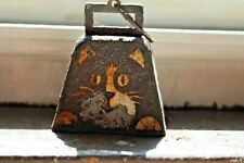 Vintage Small Square Brass Metal Bell Bells Works •2 1/2 inch tall