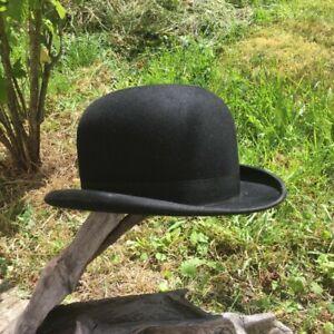 Ancien chapeau Melon CAMPTON  35 bd St-Michel Paris, art déco Vintage