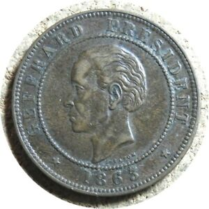 elf Haiti 20 Cent 1863 President Geffrard