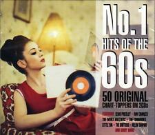 NO.1 HITS OF THE '60s - 50 ORIGINAL CHART-TOPPERS - VARIOUS ARTISTS (NEW 2CD)