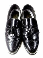 DEXTER MADE IN USA LOAFERS 9 M TASSEL BLACK LEATHER DRESS COMFORT MENS SHOES