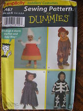 Pattern Costume Halloween Simplicity 4467 Toddler 1-4 Scarecrow Witch Uncut 2005