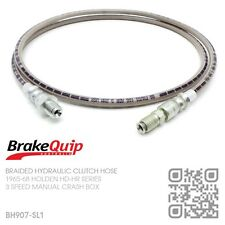 BH907-SL1 STAINLESS BRAIDED CLUTCH HOSE THREE SPEED MANUAL [HOLDEN HD-HR] SILVER