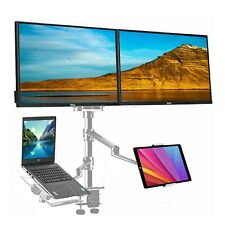 Adjustable Height Table Top Sit/Stand Desk Mount for Monitor Laptop - Cherry