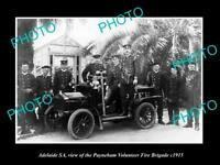 OLD LARGE HISTORIC PHOTO OF ADELAIDE SA, THE PAYNEHAM FIRE BIGADE c1915 2
