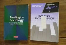 2  x A Level Textbooks Readings in Sociology How To Do Social Research