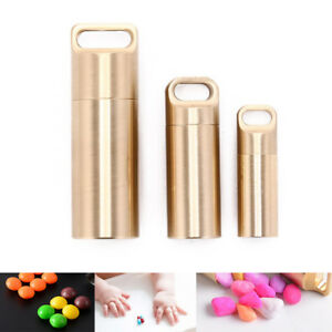 waterproof outdoor metal survival pill match edc case box container bottle NT`