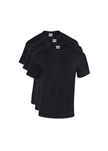 Lot de 3 t-shirt homme,tee-shirt coton manches courte couleur noir