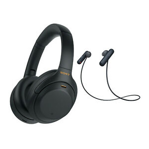 Sony WH-1000XM4 Wireless Noise Canceling Over Ear Headphones Black Bundle