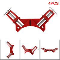 """4pcs 4"""" 100mm Mitre Corner Clamps Picture Frame Holder Woodwork Right Angle UK"""