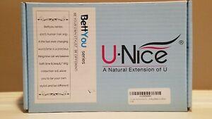 UNICE Curly Hair Headband Black Wig 16 inch w/ Wig Cap * NEW Open Box