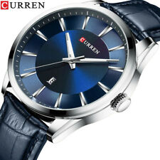 CURREN Quartz Watches Men Leather Strap Male Wristwatch Casual Business Watch