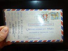 Mozambique $4 Butterfly + $2.5 A/M Montgomery Ward, Belgium address (35bee)