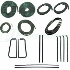 60-63 Chevy C10 Truck Complete Gasket Kit Door Glass Weatherstrip - Chrome Trim